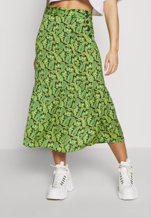 PAISLEY TIERED - A-line skirt - green