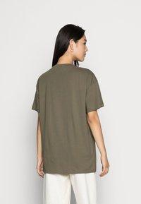 Vero Moda - VMOBENTA OVERSIZED 2-PACK - Basic T-shirt - black & kalamata - 3