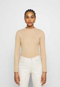 Monki - Long sleeved top - beige - 0