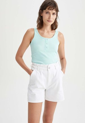SLIM FIT - Top - turquoise