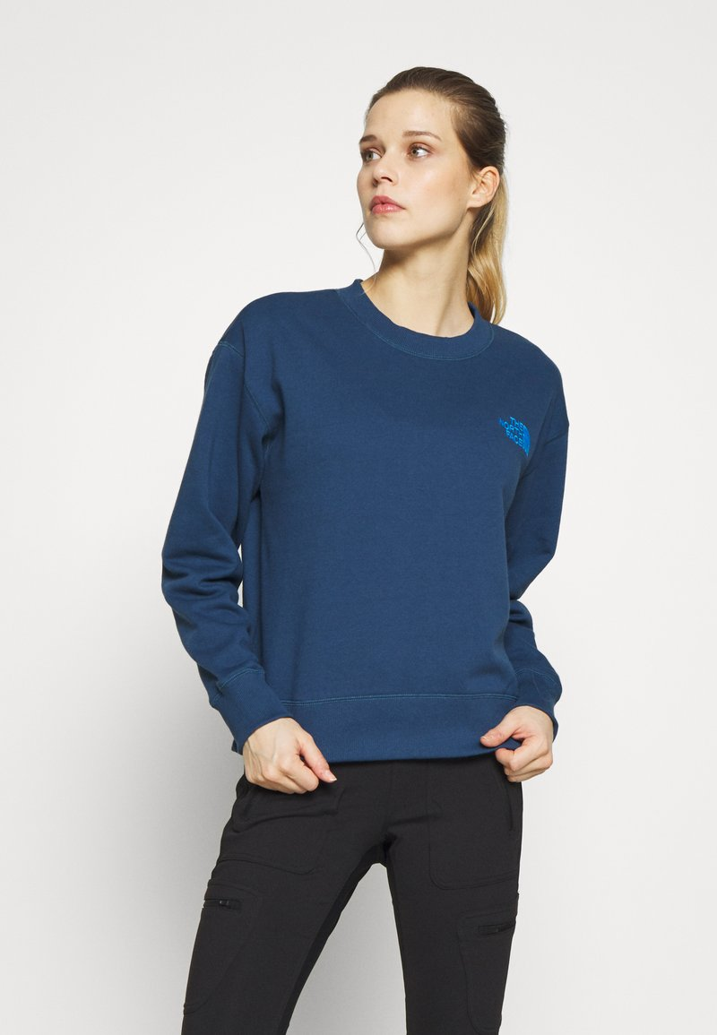 The North Face - WOMENS PARKS SLIGHTLY CROPPED CREW - Mikina - blue wing teal