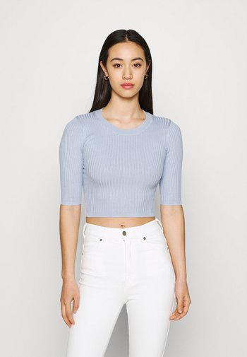 2 PACK - Basic T-shirt - black/blue