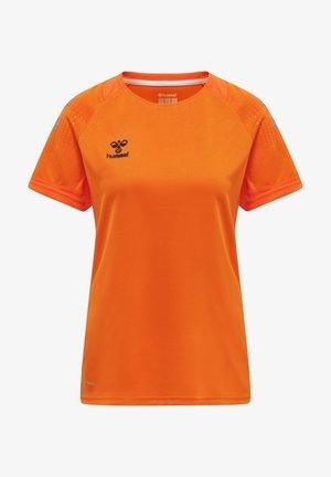 LEAD WOMEN - Print T-shirt - orange tiger
