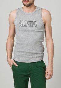Alpha Industries - TRACK TOP - Top - grey - 1