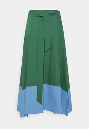 OBLARE - Pleated skirt - gruen