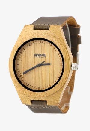 Horloge - bambus und leder
