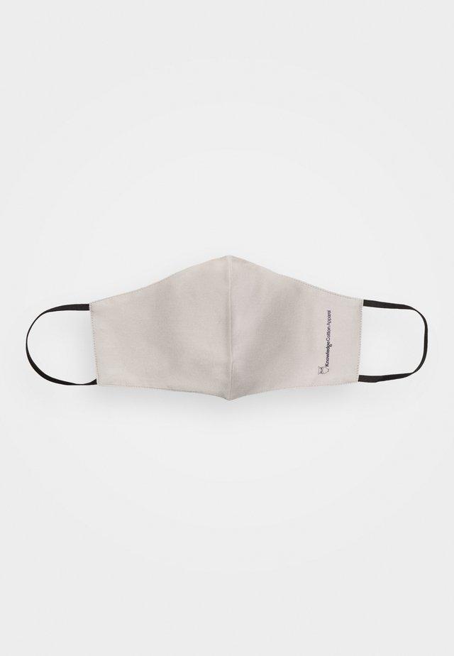 FACE MASK 2 PACK UNISEX - Masque en tissu - beige/black