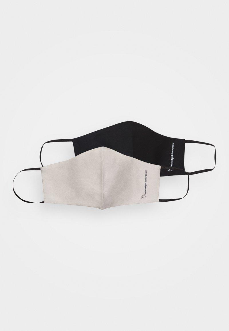 KnowledgeCotton Apparel - FACE MASK 2 PACK UNISEX - Maschera in tessuto - beige/black
