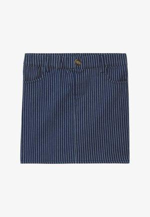 NKFSALLI - Denim skirt - dark blue denim