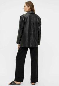 YAS - Leather jacket - black - 2