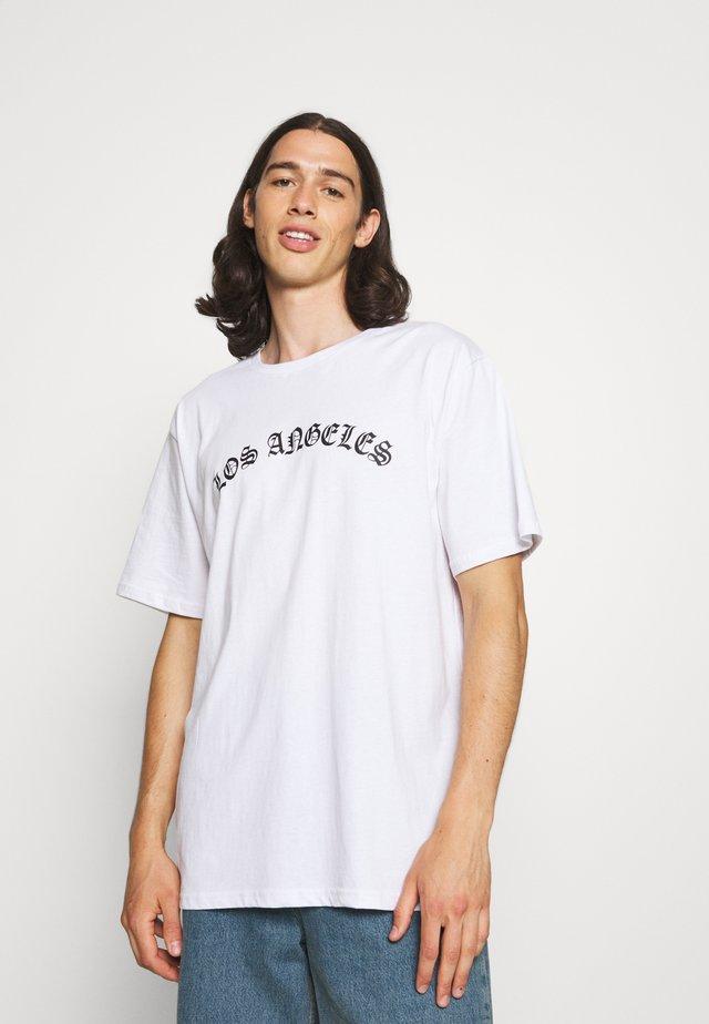 UNISEX LOS ANGELES - Print T-shirt - white