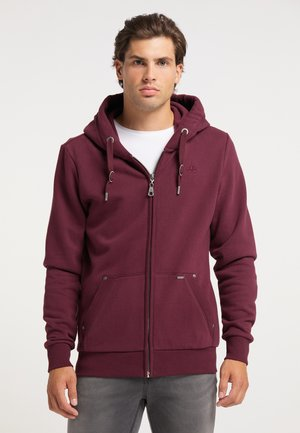 Zip-up hoodie - bordeaux