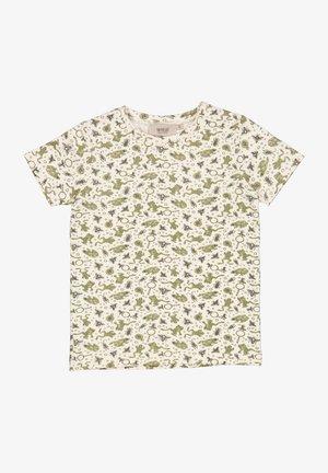 T-shirt print - eggshell frogs
