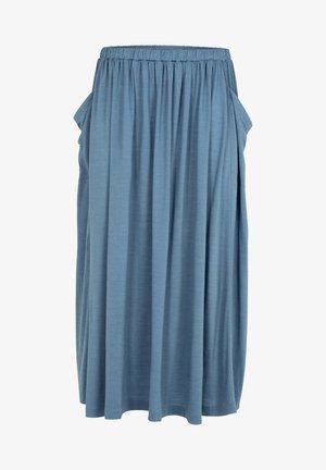 Plooirok - granite blue