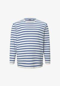 TOM TAILOR MEN PLUS - Jumper - white victory blue stripe - 5
