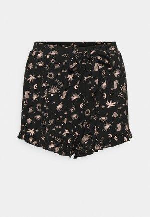 SHORT STORY TELLING RUFFLE - Bas de pyjama - black