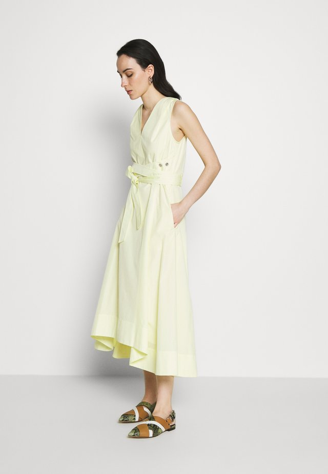 VNECK DRESS UTILITY TIE - Korte jurk - pale yellow