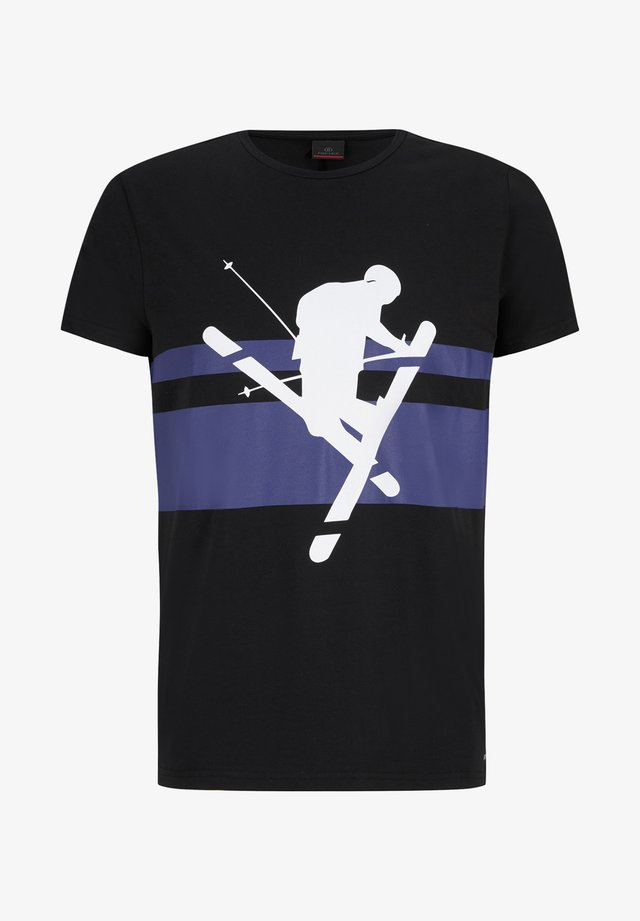 FOX - Print T-shirt - schwarz
