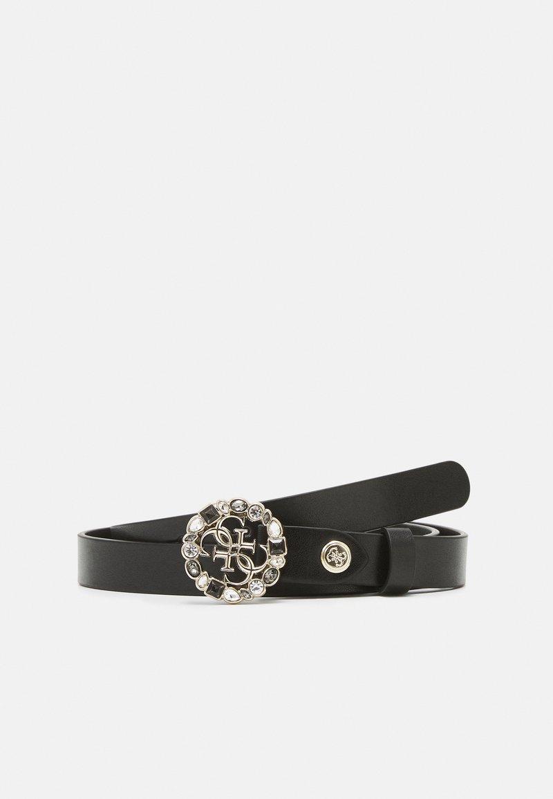 Guess - ADJUSTABLE PANTBELT - Belte - black/gold-coloured