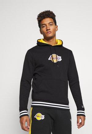 LOS ANGELES LAKERS NBA VARSITY DETAIL HOODY - Klubbkläder - black