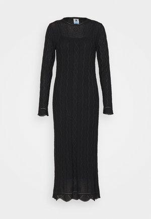 ABITO LUNGO - Strikket kjole - black