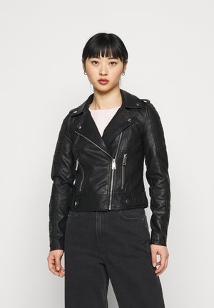 VMKERRIULTRA SHORT JACKET - Faux leather jacket - black