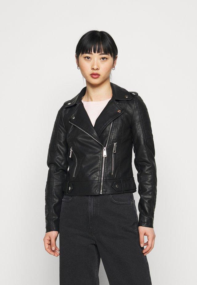 VMKERRIULTRA SHORT JACKET - Faux leather jacket - black