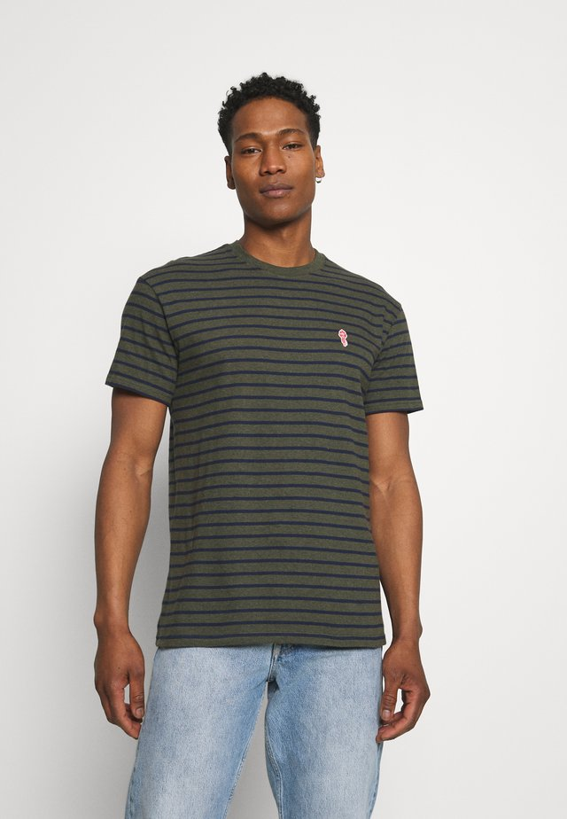 STRIPED - T-shirt print - army melange
