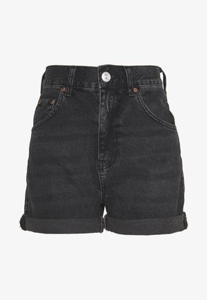 ROLLED HEM MOM SHORT - Shorts - washed black