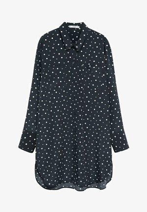 Button-down blouse - marineblau