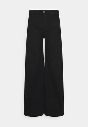 EDEN WIDE - Relaxed fit jeans - black
