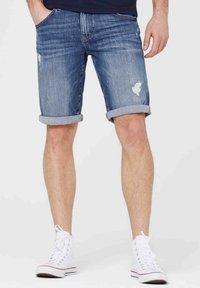 Harlem Soul - HARLEM  - Denim shorts - blue used - 0