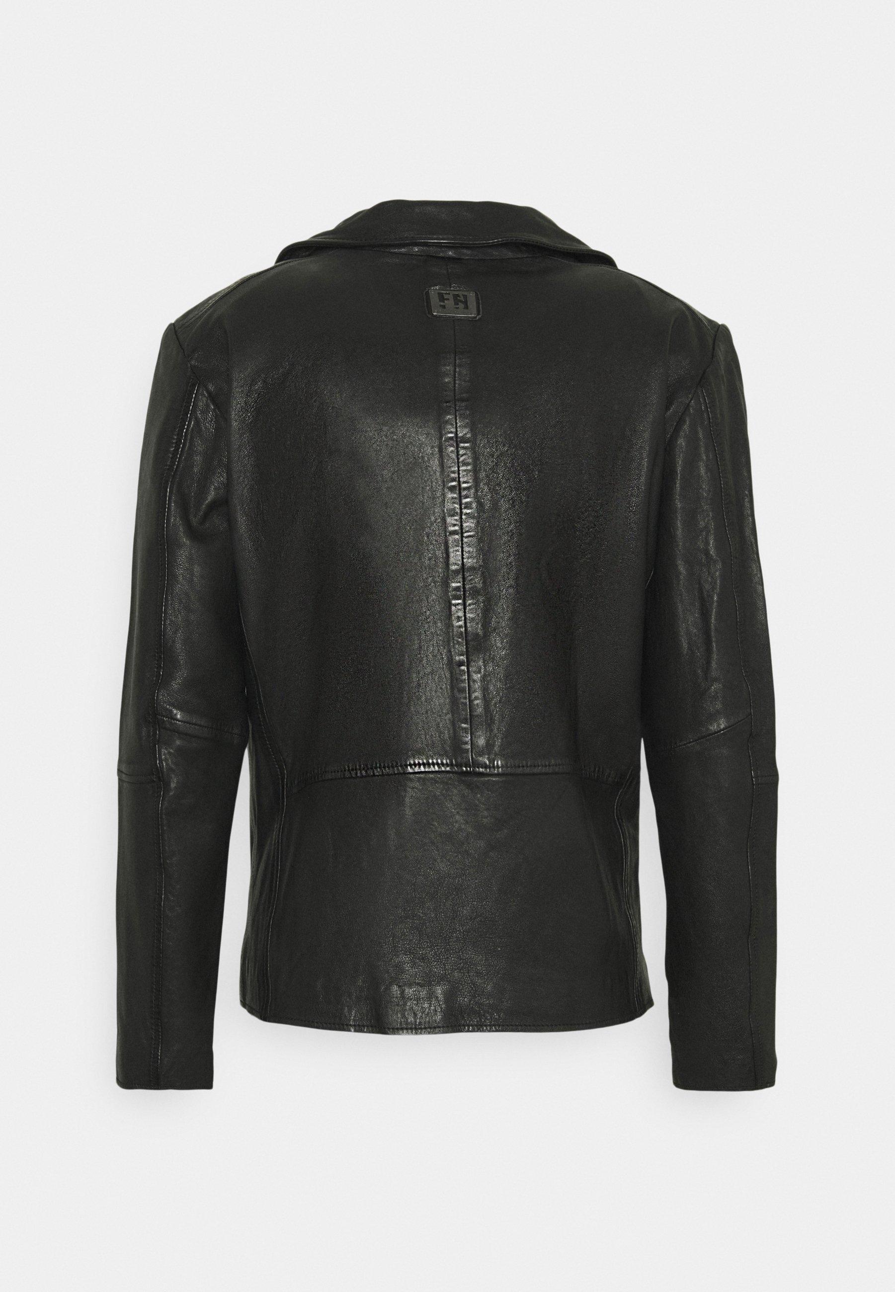 Men COOL RACE - Leather jacket