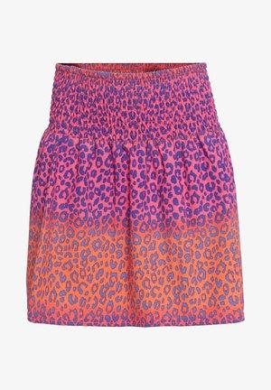 MIT RÜSCHE - A-line skirt - pink