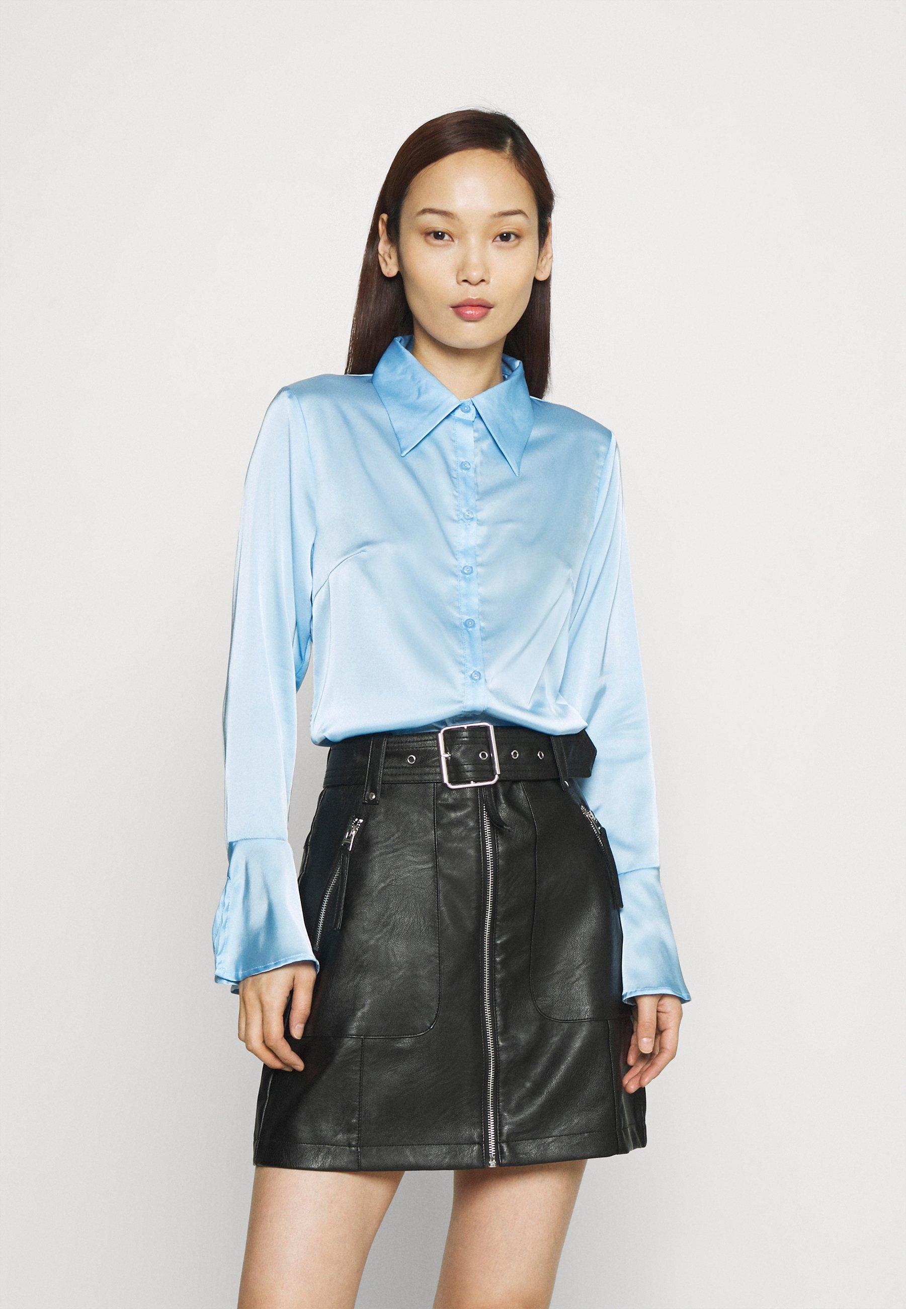 Women STUDIO EAGGERATED COLLAR BLOUSES - Button-down blouse