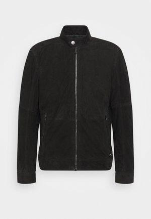 OSCO - Leather jacket - black