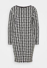 Wallis - DOGTOOTH DRESS - Sukienka dzianinowa - black - 0