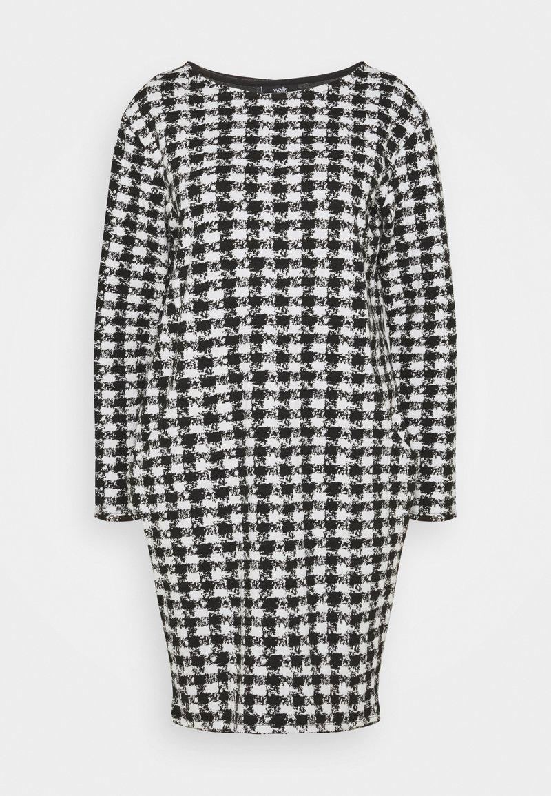 Wallis - DOGTOOTH DRESS - Sukienka dzianinowa - black