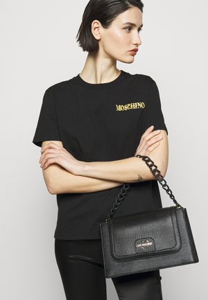 CROC FLAP CROSSBODY - Across body bag - nero
