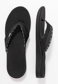 Reef - ORTHO BOUNCE COAST - Sandály s odděleným palcem - black - 3