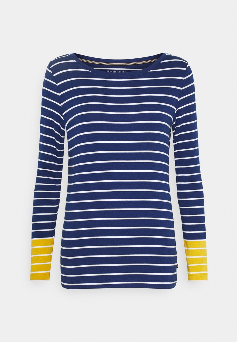 Esprit - STRIPE TEE - Long sleeved top - dark blue