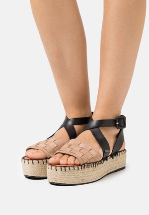 Platform sandals - soft rose