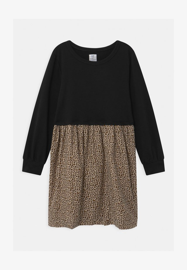 GIRLS LEOPARD - Day dress - moonless night