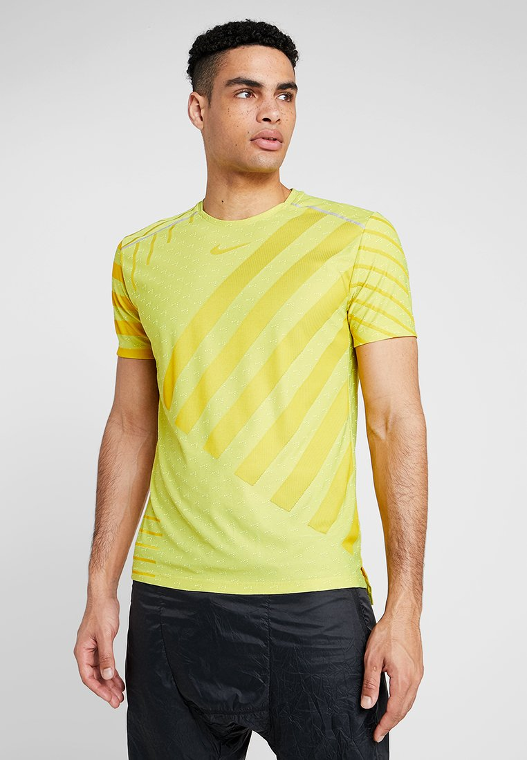 Nike Performance - TECH COOL  - Print T-shirt - volt/dark sulfur/reflective silver