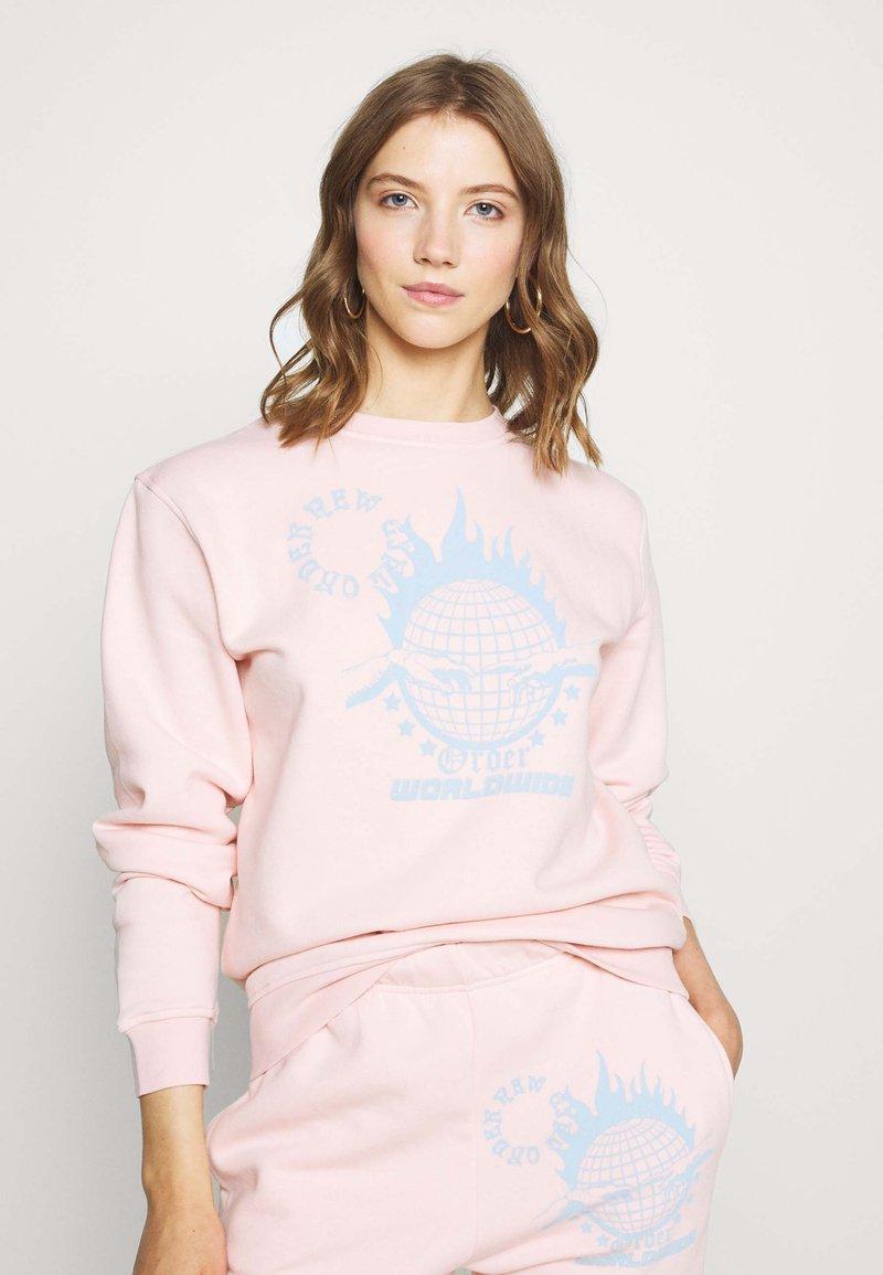 NEW girl ORDER - WORLDWIDE SWEAT CO-ORD - Bluza - pink