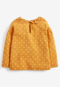 Next - BRUSHED BRODERIE COLLAR  - Long sleeved top - yellow - 1