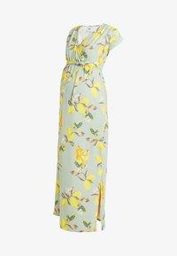 MAMALICIOUS - MLLEMON DRESS - Vestido largo - frosty green/lemon - 5