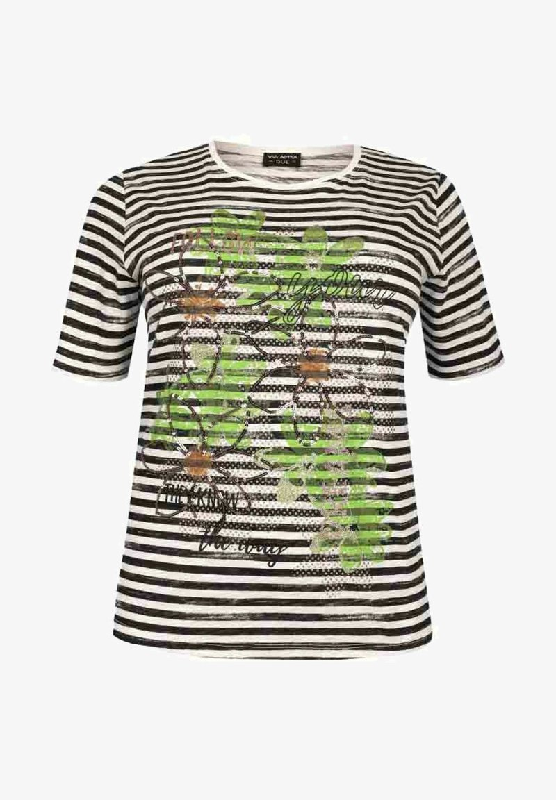Via Appia Due - Print T-shirt - schwarz/weiß