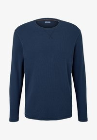 TOM TAILOR - MIT WAFFELSTRUKTUR - Long sleeved top - dark blue - 0