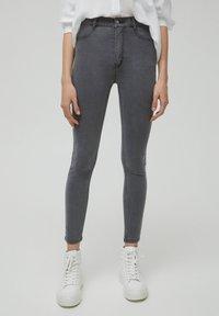 PULL&BEAR - SKINNY - Jeans Skinny Fit - dark grey - 0